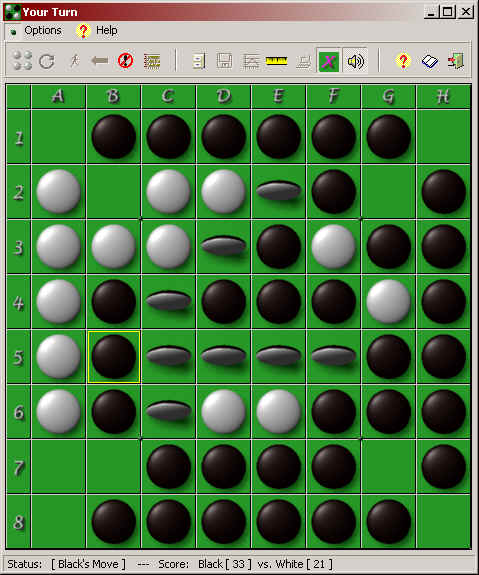 Download a full featured version of the ancient board game Reversi.